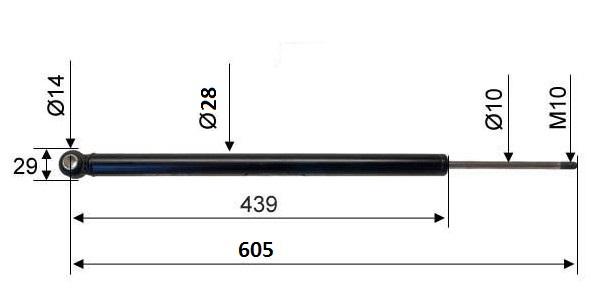 Амортисьор 2,8 VB схема